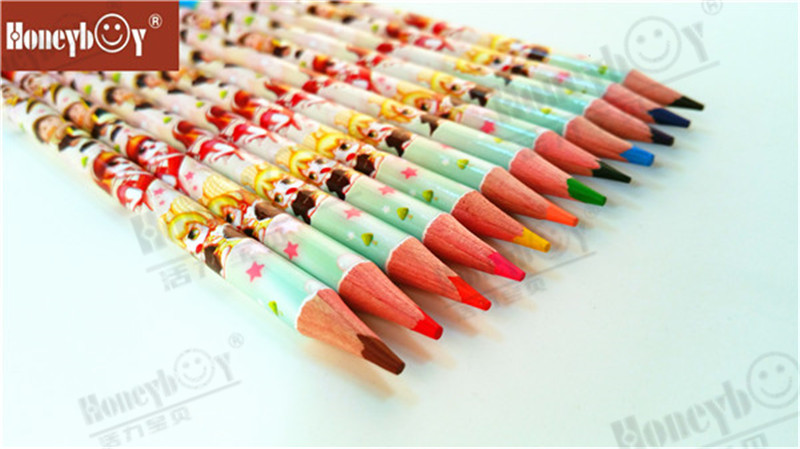 Honeyboy.Heat Transfe Wooden Hexagonal Color Pencil In PVC Bag China