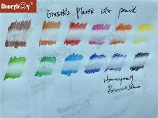 2021 New Erasable Plastic Wood Free Color Pencil From China