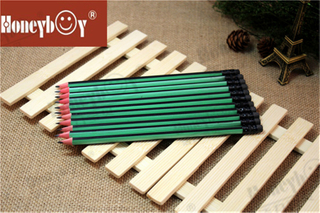 Most Popular Red Wood Stripe Paint Pencil with Black Eraser