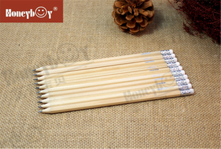 Honeyboy White Eraser Natural Paint Pencil with Logo From China