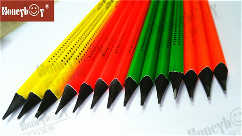Cool And Unique Black Wood Foil Rolling Neon Paint Pencil