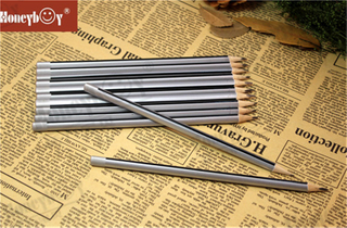 Unique And Popular Sharpened Sliver Metallic Paint Stripe Pencil