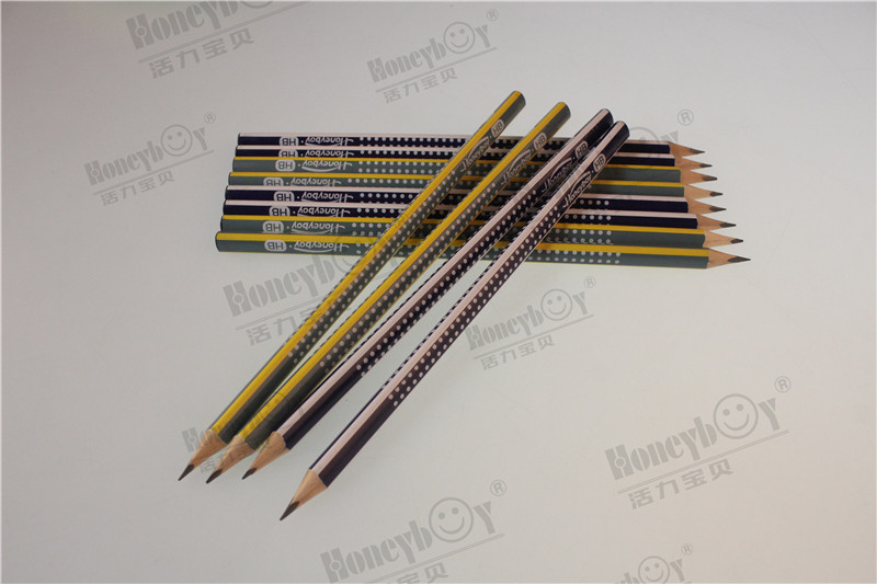 Honeyboy PVC Box Packing Dipped Triangular Pencil with Logo From China