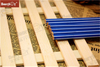 Strength Manufacturer Blue Body White Stripe Paint Hex Pencil with Eraser