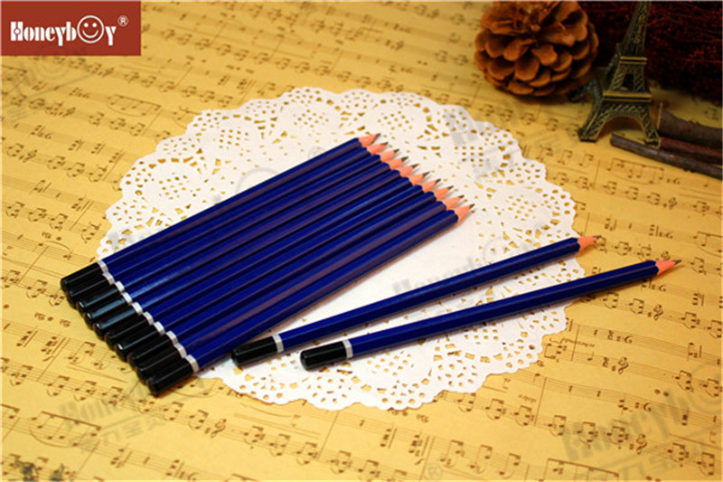 Honeyboy Sharpened Navy Blue Dipped Cap Pencil From China
