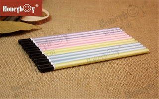 High Quality Hex Pearly Paint Pencil with Black Dipped Cap with Many Sales
